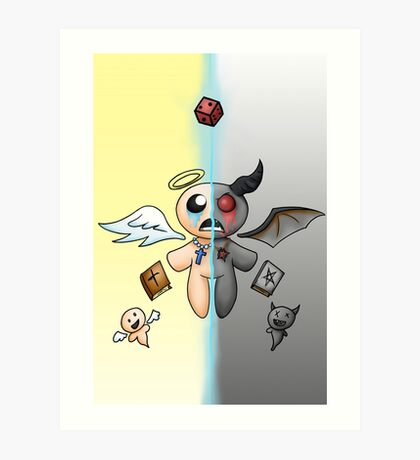 The Two sides of Isaac Art Print