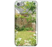 House with Nice Lawn and White Flowers iPhone Case/Skin