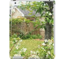 House with Nice Lawn and White Flowers iPad Case/Skin