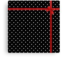 Polka Dot Ribbon Canvas Print