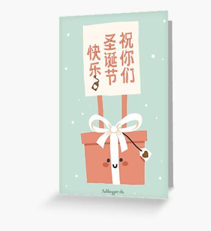 祝你们圣诞节快乐! (Zhu nimen) Sheng Dan Kuai Le! Greeting Card