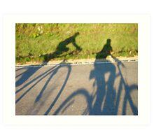 Cycling Shadows Art Print