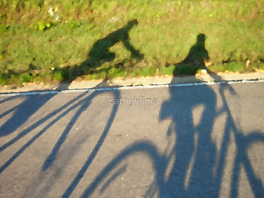 Cycling Shadows by cathyklima