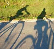 Cycling Shadows by Cathy Klima