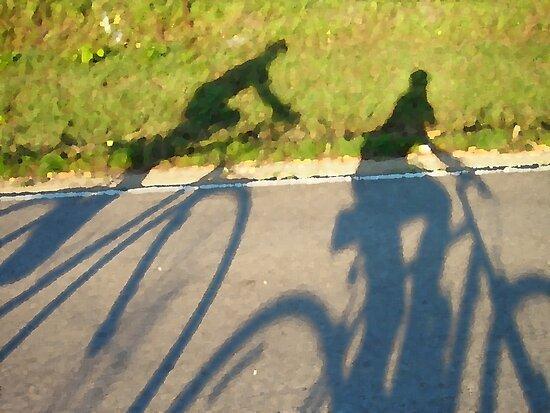 Cycling Shadows by Cathy Klima