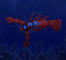 Lobster Diving by elledeegee