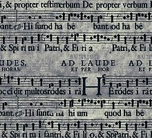 Grunge Music Score Pattern by sale