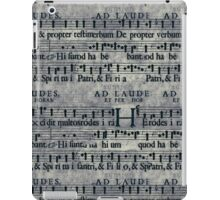 Retro Vintage Music Notes Pattern iPad Case/Skin