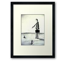 business is murder Framed Print