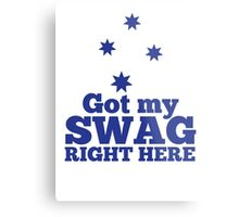 GOT MY SWAG right here in blue with Australian Southern Cross Metal Print
