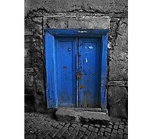 Blue Door In The Castle Photographic Print