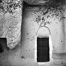 Cappadocian Cave Door (Black And White) by Josh Wentz