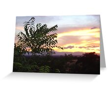 Chico Sunset III Greeting Card