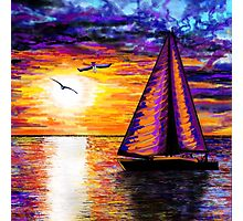 Colourful sail Photographic Print