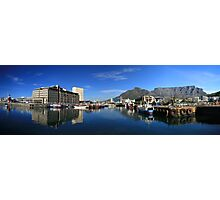 Table Mountain from the Water Front Photographic Print
