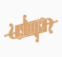 Utopia Ambigram Gold One Piece - Long Sleeve