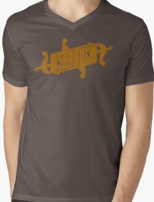 Utopia Ambigram Gold Mens V-Neck T-Shirt