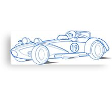 Lotus 7 Technical Drawing Canvas Print