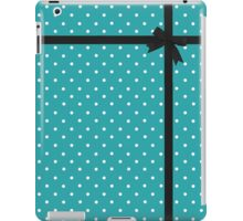 Blue Polka Dot with Black Bow iPad Case/Skin