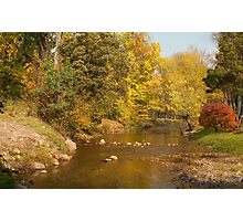 0085 Riverside in Autumn Photographic Print