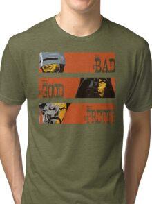 Spaghetti Western Cyborgs Tri-blend T-Shirt