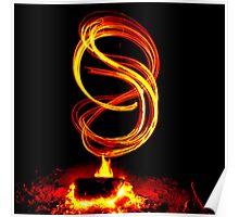 Fire Swirls Poster