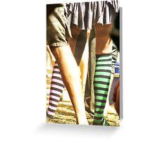 leg stripes Greeting Card