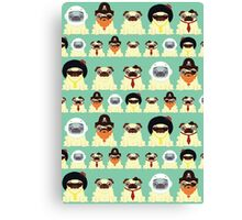 Pug pattern Canvas Print