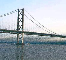 Fifth of Forth (Road Bridge) Scotland by Paul Lindenberg
