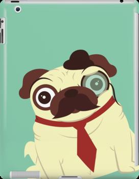 Pug in a Hat by Scott Weston