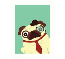 Pug in a Hat Art Print