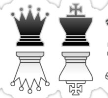 Chess - Black and white reflection Sticker