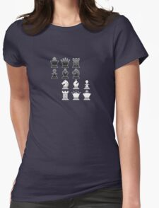 Chess - Black and white blocks Womens Fitted T-Shirt