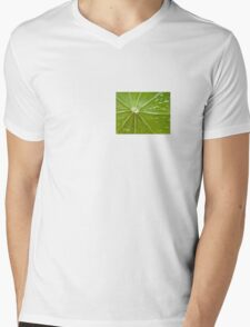 Lime abstract Mens V-Neck T-Shirt