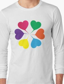 (Girls) Heart Flower Long Sleeve T-Shirt