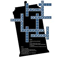 Doctor Who Cross Word Puzzle Photographic Print