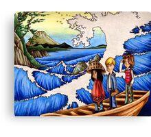 Sailing Through Hokusai Canvas Print