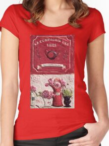 """Exclusive: """" thé-tea """" / My Creations Artistic Sculpture Relief fact Main 41  (c)(h) by Olao-Olavia / Okaio Créations Women's Fitted Scoop T-Shirt"""