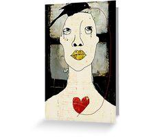 l'amour, comme un oiseau noir Greeting Card