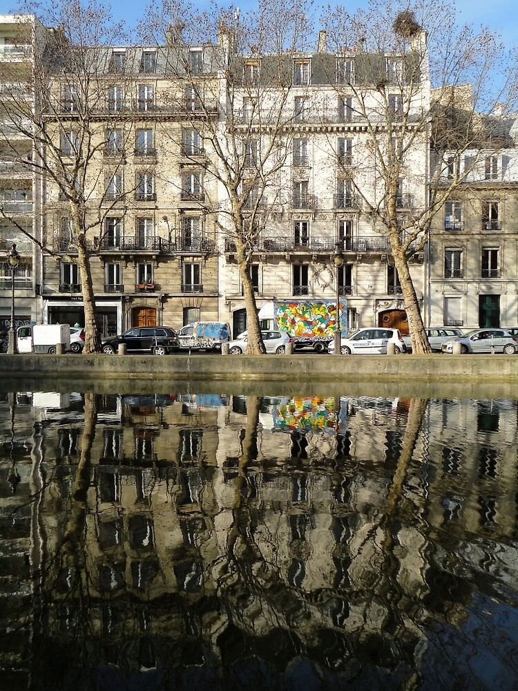 Reflections, Canal Saint Martin, Paris, France, Europe 2012 by muz2142