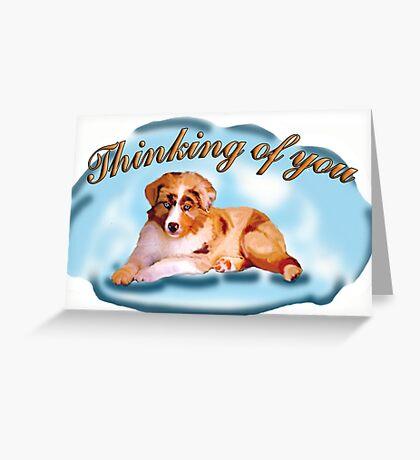 Australian Shepherd greeting card Greeting Card