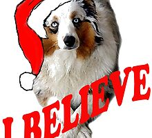 Autralian Shepherd Christmas themed by IowaArtist