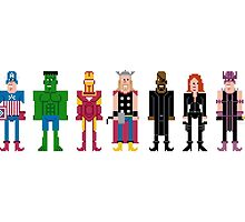 The Pixel Avengers by Sergey Vozika