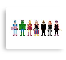 The Pixel Avengers Canvas Print