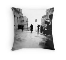 shadows in montmartre, paris Throw Pillow