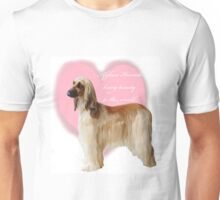 Afghan Hound with heart Unisex T-Shirt