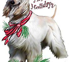 Afgahn hound holidays by IowaArtist