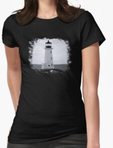 Peggy's Cove Lighthouse Tee Womens Fitted T-Shirt