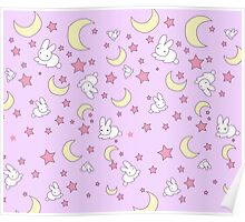 Sailor Moon Inspired Pattern Poster