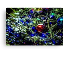 Christmas Tree Decorated Canvas Print